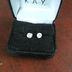 14kt 2ct moissanite earrings
